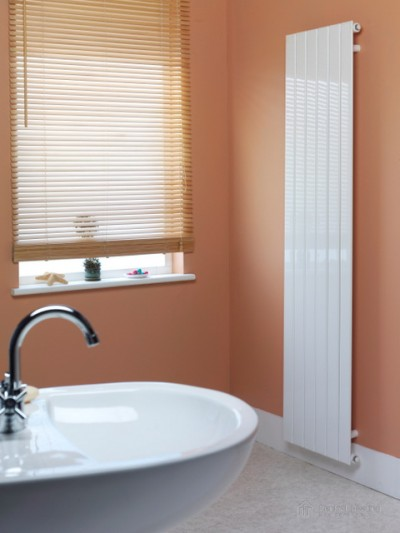 DeLonghi Miro vertical radiator in bathroom